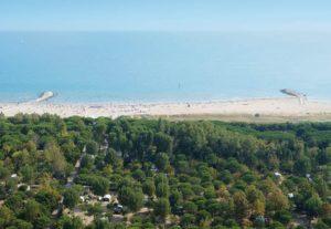 Het privé-strand van Union Lido